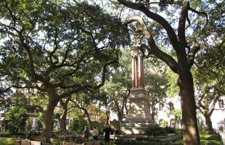 A historic square along the Architecture Savannah walking tour.